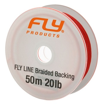 FLY Braided Backing 50m 20lb orange