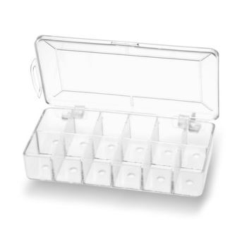 Dubbing Dispenser Empty Clear with holes