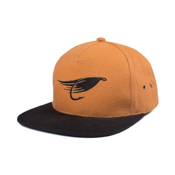 Hooke The Fly Strap Back Hat Camel Black
