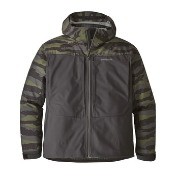 Patagonia River salt jacka Rock Camo: Ink Black