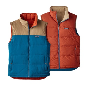 Patagonia Men's Reversible Bivy Down Vest Big Sur Blue