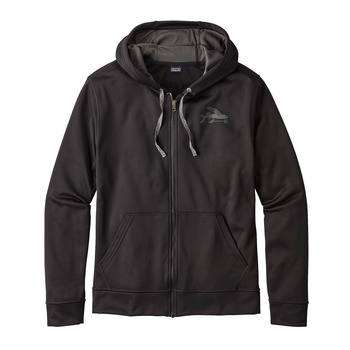 Patagonia Men's Small Flying Fish PolyCycle® Full Zip Hoody Black