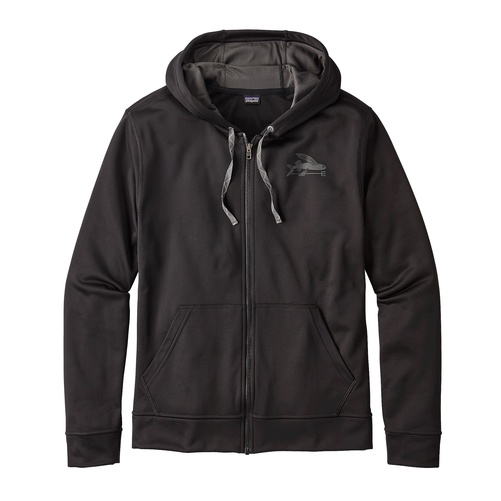 Patagonia Men's Small Flying Fish PolyCycle® Full Zip Hoody Black S