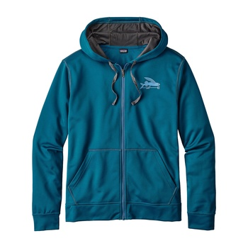 Patagonia Men's Small Flying Fish PolyCycle® Full Zip Hoody Big Sur Blue
