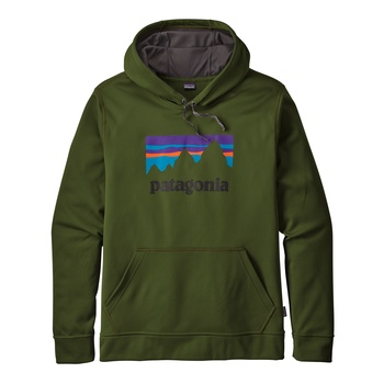Patagonia Men's Shop Sticker PolyCycle® Hoody Glades Green