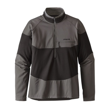 Patagonia Men's Long-Sleeved R1® Field 1/4-Zip Forge Grey