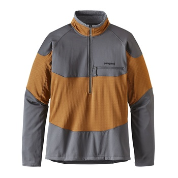Patagonia Men's Long-Sleeved R1® Field 1/4-Zip Bear Brown