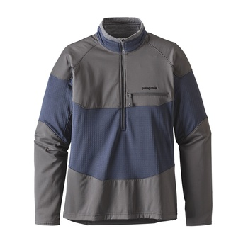 Patagonia Men's Long-Sleeved R1® Field 1/4-Zip Smolder Blue