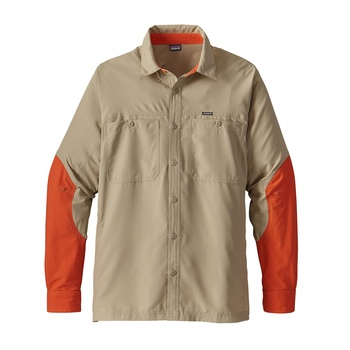 Patagonia Men's Lightweight Field Shirt El Cap Khaki / Orange