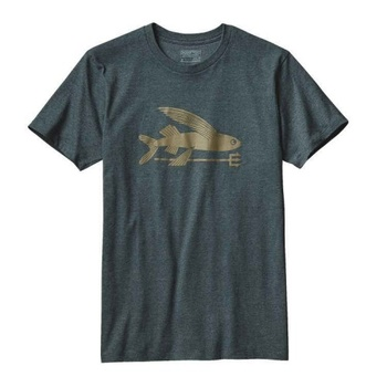 Patagonia Men's Flying Fish T-Shirt Carbon