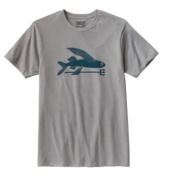 Patagonia Men's Flying Fish T-Shirt Drifter Grey