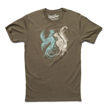 Howler Fighting Cocks Military Green T-Shirt