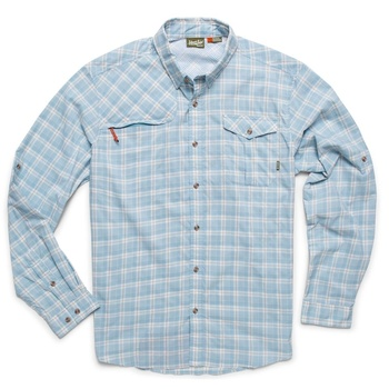Howler Matagorda Shirt Nassau Plaid Atmosphere Blue