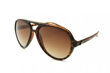 Fortis Aviator Polarised Sunglasses Brown