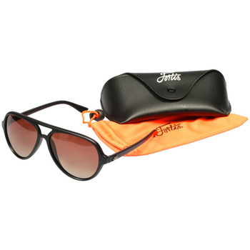 Fortis Aviators Polarised Sunglasses Matte Black