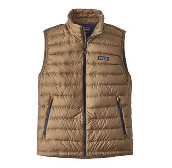 Patagonia Men's Down Sweater Vest Mojave Khaki
