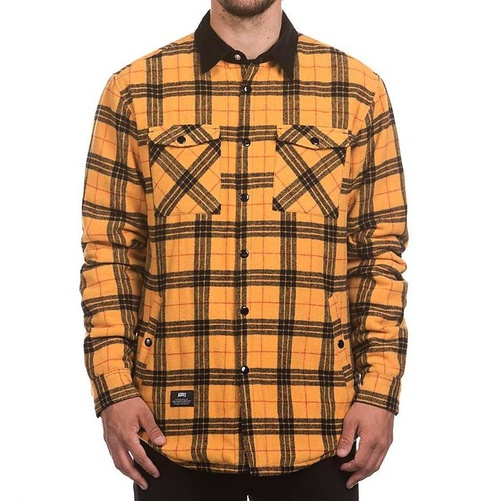 Hooke Plaid Insulated Jacket Mustard & Black S