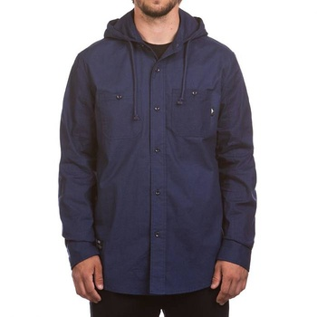 Hooke Hooded Shirt Washed Navy