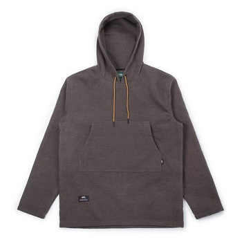 Hooke Poncho Hoodie Heather Charcoal