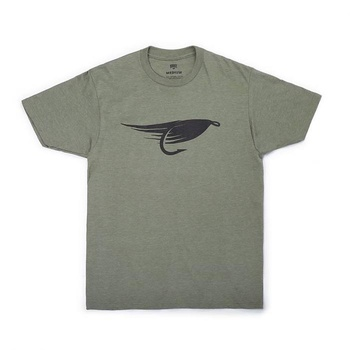 Hooke Big Fly T-Shirt Olive Heather