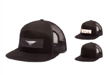 Hooke Velcro Trucker Hat Black