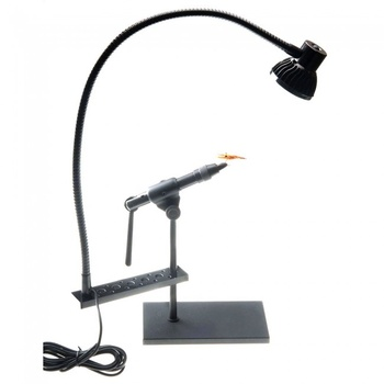 Fly Tying work lamp with Tool Rack