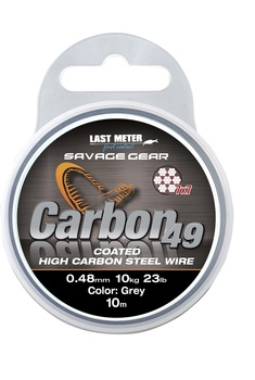 Savage Gear Carbon49 Coated Wire Grey 10m