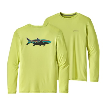 Patagonia Men's Graphic Tech Fish Tee Fitz Roy Tarpon: Celery Green
