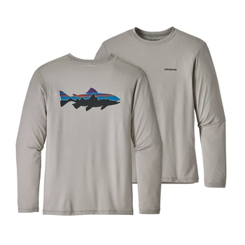 Patagonia Men's Graphic Tech Fish Tee Fitz Roy Trout: Drifter Grey