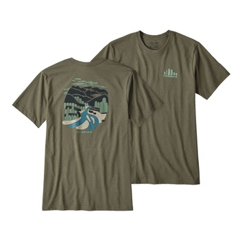 Patagonia M's Rainforest Fed Cotton/Poly Responsibili-Tee Buffalo Green