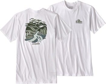 Patagonia M's Rainforest Fed Cotton/Poly Responsibili-Tee White