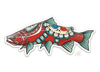 Dala Trout Sticker - Casey Underwood