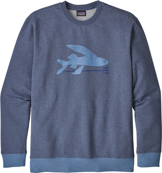 Patagonia Men's Flying Fish Midweight Crew Sweatshirt Dolomite Blue