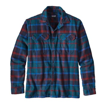 Patagonia Men's Long-Sleeved Fjord Flannel Shirt Big Sure Blue