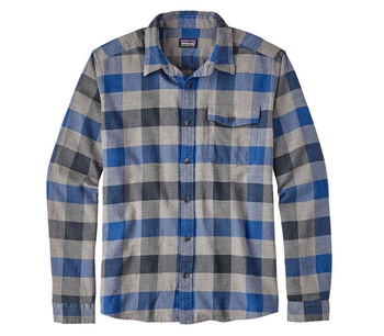 Patagonia Men's Long-Sleeved Lightweight Fjord Flannel Shirt Upriver: VIking Blue