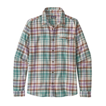Patagonia Men's Long-Sleeved Lightweight Fjord Flannel Shirt Rootsy: Beryl Green