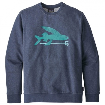 Patagonia Men's Flying Fish Midweight Crew Sweatshirt Classic Navy