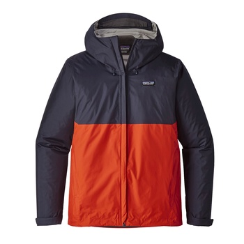 Patagonia M's Torrentshell Jacket Navy Blue w/Paintbrush Red