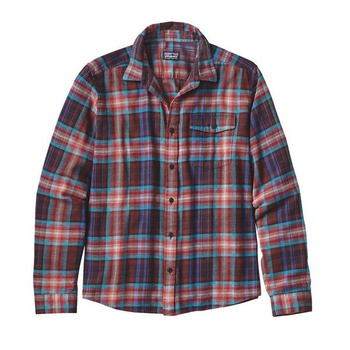 Patagonia Men's Long-Sleeved Lightweight Fjord Flannel Shirt Rootsy: Cinder Red