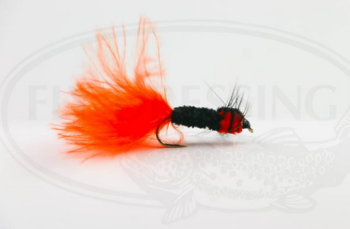 Montana Streamer svart/orange size 8