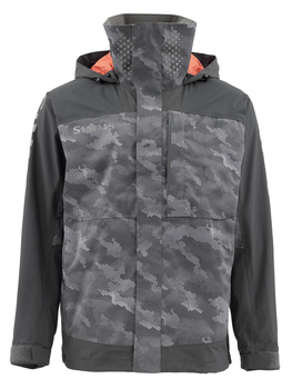 Simms Challenger Jacket Hex Camo Carbon