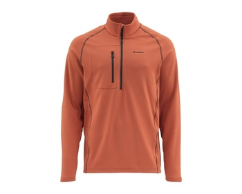 Simms Fleece Midlayer Top Simms Orange