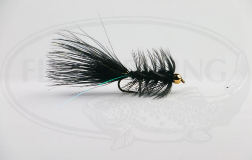 Wolly Bugger Gold Head Svart size 8