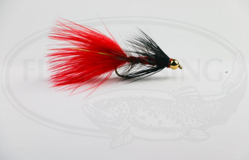 Wolly Bugger Gold Head Red Black size 8