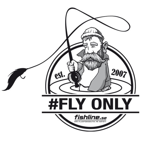 Fishline FLY ONLY sticker