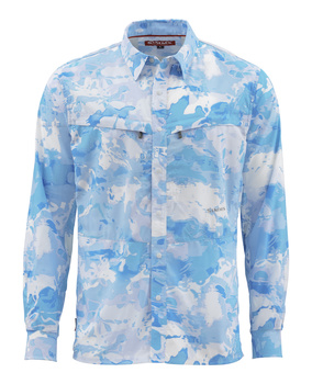 Simms Intruder BiComp Skjorta Cloud Camo Blue