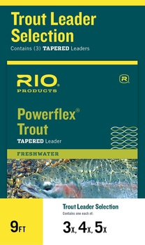 Rio Powerflex Trout Taperad Tafs 9ft 3-Pack
