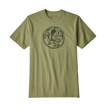 Patagonia M's Can't Eat Money Responsibil t-shirt Crag Green
