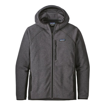 Patagonia Men's Performance Better Sweater™ Fleece Hoody Forge Grey w/Black