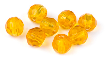 Darts Glass Bead Faceted Amber